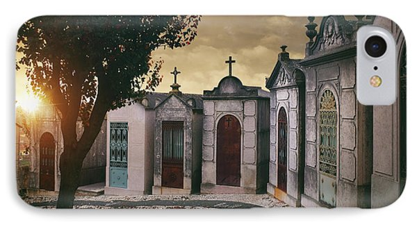 IPhone Case featuring the photograph Row Of Crypts by Carlos Caetano
