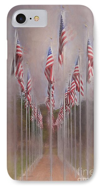 Row Of Flags IPhone Case by Clare VanderVeen