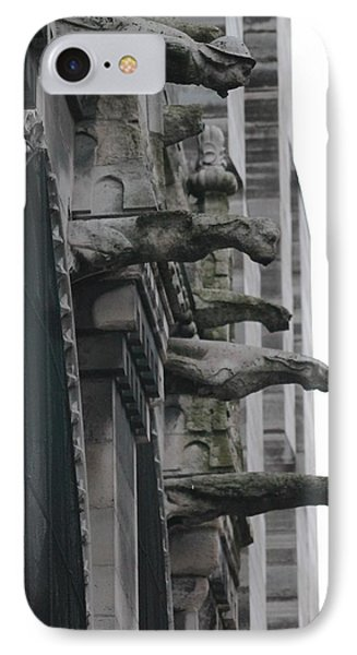 IPhone Case featuring the photograph Row Of Gargoyles by Christopher Kirby
