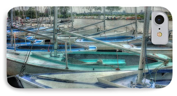 Row Of Sailboats - Charles River - Boston IPhone Case by Joann Vitali