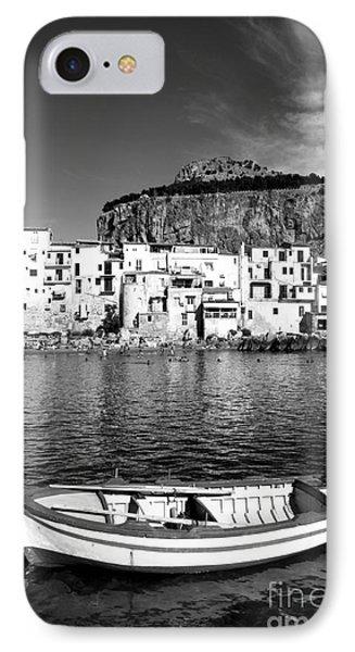 Rowboat Along An Idyllic Sicilian Village. IPhone Case by Stefano Senise