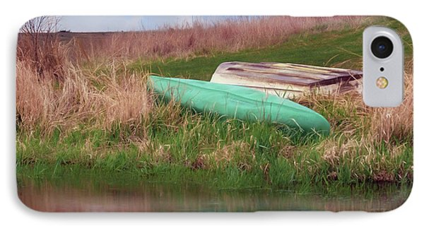 IPhone Case featuring the photograph Rowboat - Canoe by Nikolyn McDonald