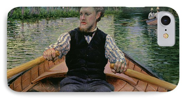 Rower In A Top Hat IPhone Case by Gustave Caillebotte