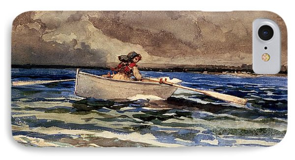 Rowing At Prouts Neck Phone Case by Winslow Homer