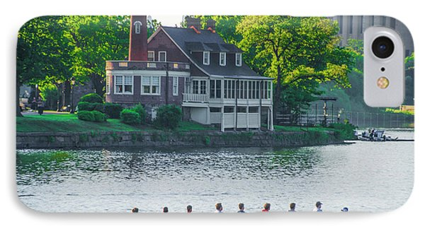 IPhone Case featuring the photograph Rowing Crew In Philadelphia In The Spring by Bill Cannon