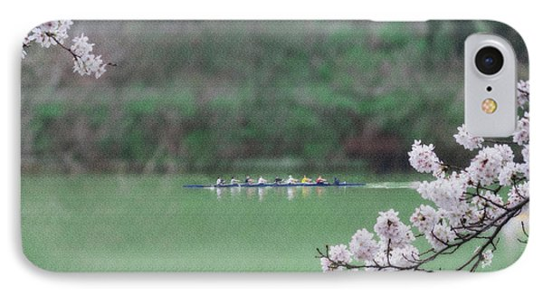 Rowing On The Mon IPhone Case by Dan Friend