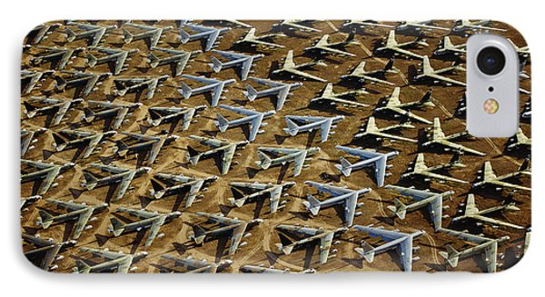 Rows Of B-52s Tucson Az IPhone Case by Panoramic Images
