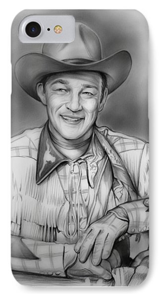 Roy Rogers IPhone Case by Greg Joens