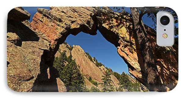 Royal Arch Trail Arch Boulder Colorado IPhone Case by Toby McGuire