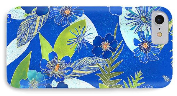Royal Blue Aloha Tile 3 IPhone Case
