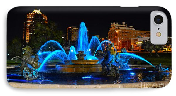 Royal Blue J. C. Nichols Fountain  IPhone Case by Catherine Sherman