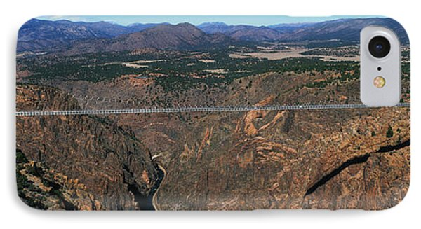 Royal Gorge Bridge Arkansas River Co IPhone Case by Panoramic Images