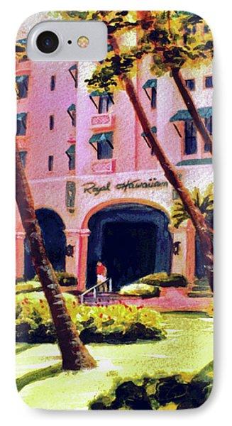 Royal Hawaiian Hotel On Waikiki Beach #131 Phone Case by Donald k Hall