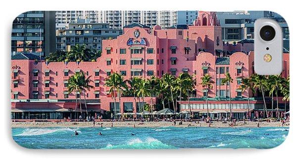 Royal Hawaiian Hotel Surfs Up IPhone Case by Aloha Art