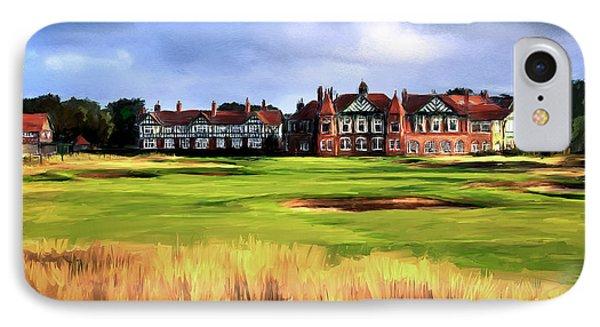 Royal Lytham St. Annes Golf Club IPhone Case by Scott Melby