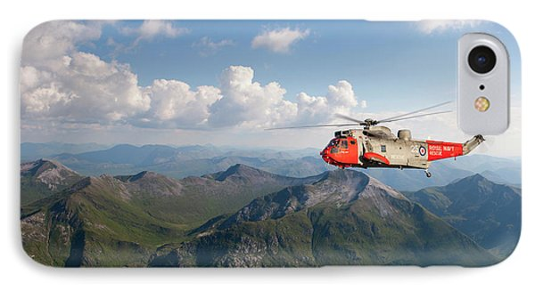 IPhone Case featuring the digital art Royal Navy Sar Sea King by Pat Speirs