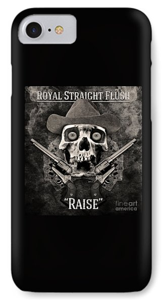 IPhone Case featuring the digital art Royal Straight Flush by Phil Perkins