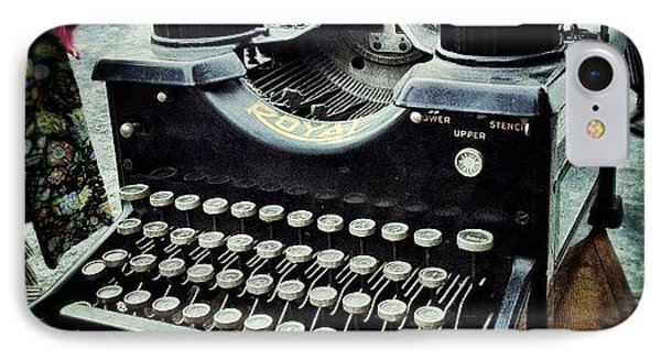 Royal Typewriter IPhone Case by Natasha Marco