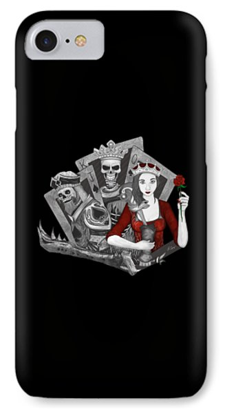 IPhone Case featuring the digital art Royalty Love by Raphael Lopez