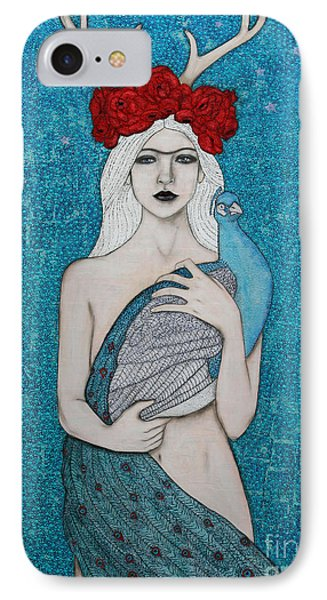 IPhone Case featuring the painting Royalty by Natalie Briney