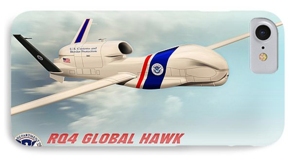 Rq4 Global Hawk Drone United States IPhone Case by John Wills
