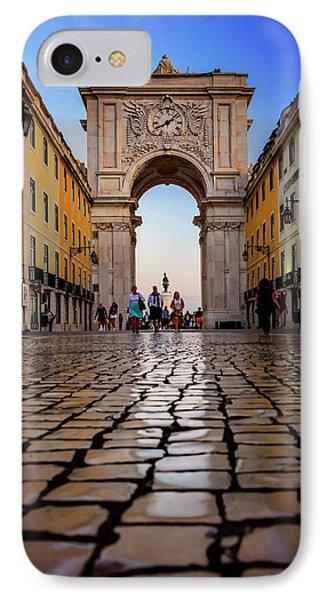 Rua Augusta Arch Lisbon IPhone Case by Carol Japp
