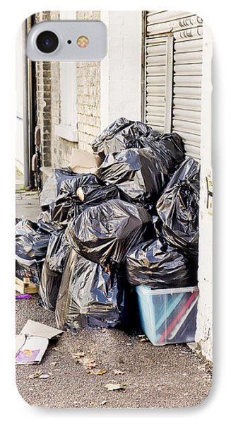Rubbish Bags IPhone Case by Tom Gowanlock