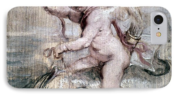 Rubens: Cupid On Dolphin Phone Case by Granger