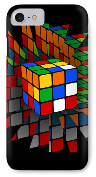 Rubik's Cube IPhone Case by Chris Butler