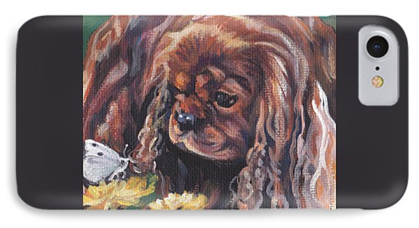 IPhone Case featuring the painting Ruby Cavalier King Charles Spaniel by Lee Ann Shepard