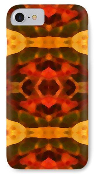 Ruby Crystal Pattern Phone Case by Amy Vangsgard