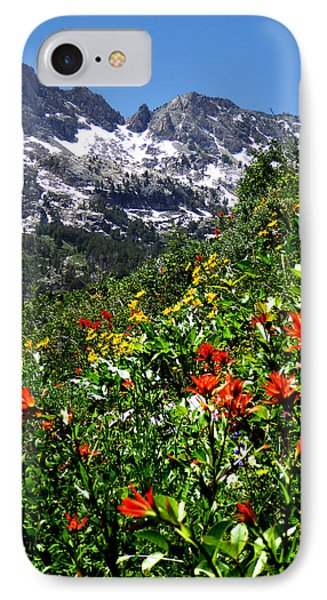 Ruby Mountain Wildflowers - Vertical IPhone Case by Alan Socolik
