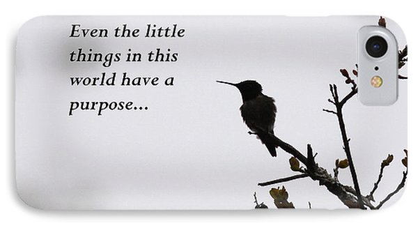 Ruby-throated Hummingbird - Little Things IPhone Case