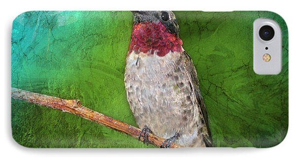 Ruby Throated Hummingbird IPhone Case by Betty LaRue