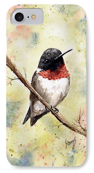 Ruby Throated Hummingbird IPhone Case