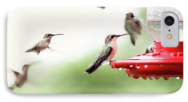 IPhone Case featuring the photograph Ruby-throated Hummingbirds by Stephanie Frey