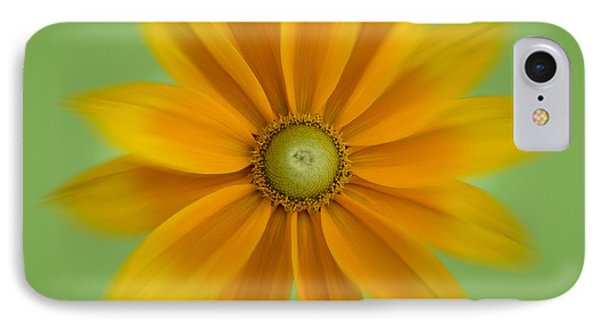 IPhone Case featuring the photograph Rudbeckia Blossom Irish Eyes - Square by Patti Deters