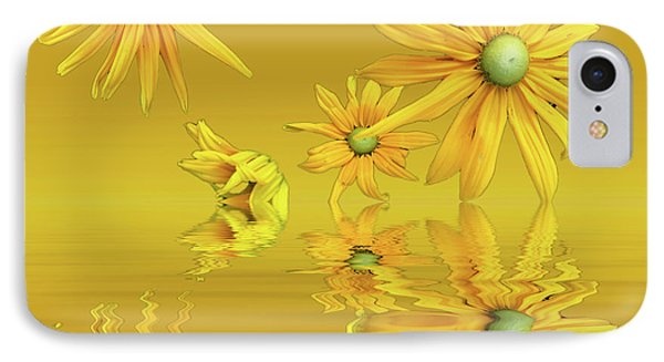 IPhone Case featuring the photograph Rudbekia Yellow Flowers by David French