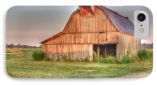 Ruddish Barn At Dawn Phone Case by Douglas Barnett