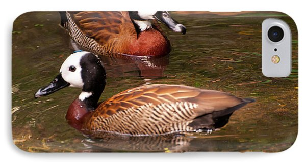 IPhone Case featuring the digital art White-faced Whistling Duck by Chris Flees