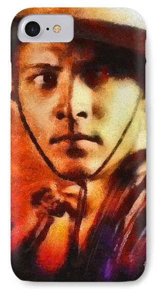 Rudolph Valentino, Vintage Hollywood Legend IPhone Case by Mary Bassett