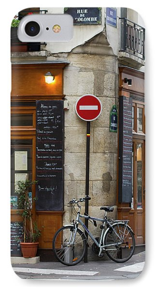 Rue De La Colombe - Paris Photograph IPhone Case by Melanie Alexandra Price