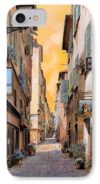 Rue Droite Nice  IPhone Case by Guido Borelli