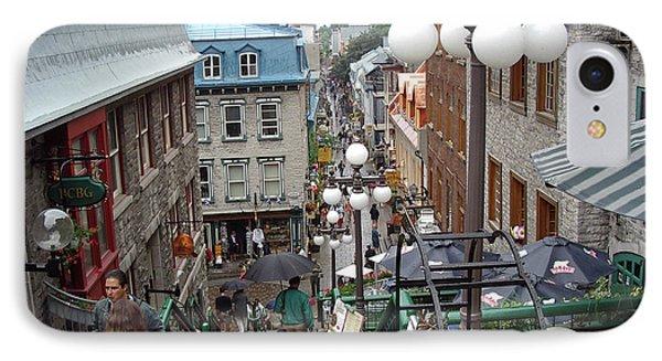 IPhone Case featuring the photograph rue du Petit Champlain by John Schneider