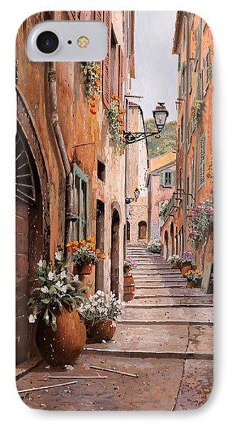 rue Malonat in  Nice  IPhone Case by Guido Borelli