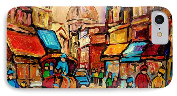 Rue St. Paul Old Montreal Streetscene IPhone Case