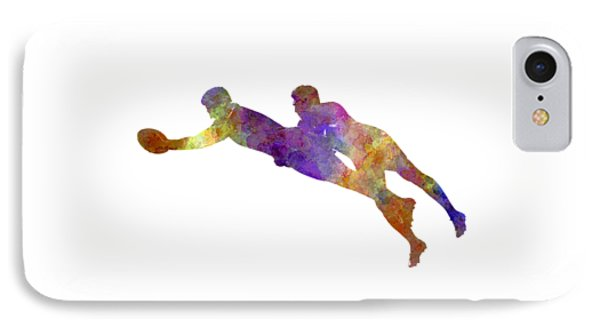 Rugby Men Players 03 In Watercolor IPhone Case