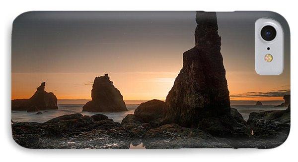 Rugged Coast Evening IPhone Case by Leland D Howard