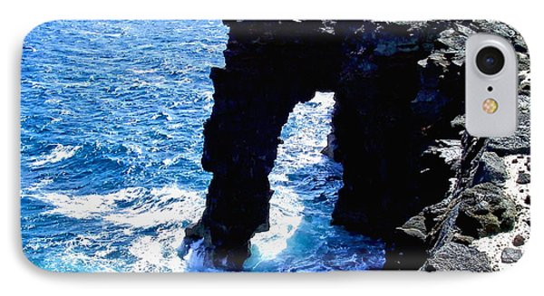 IPhone Case featuring the photograph Rugged Kona Sea Arch by Amy McDaniel