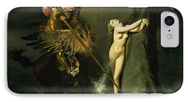 Ruggiero Rescuing Angelica IPhone Case by Ingres